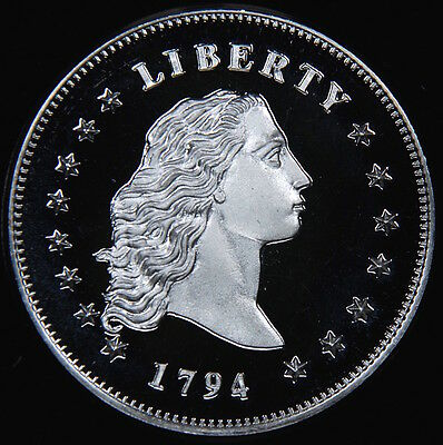 1794 $1 Flowing Hair Dollar Coin Proof Uncirculated Copy