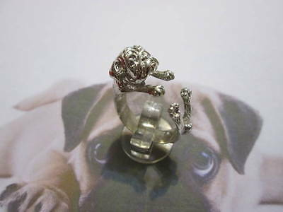 Pug dog ring in sterling silver 925- artisan product