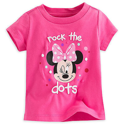 """Disney Store """"Rock the Dots"""" Minnie Mouse Girls Baby Shirt Size 9 12 18 Months"""
