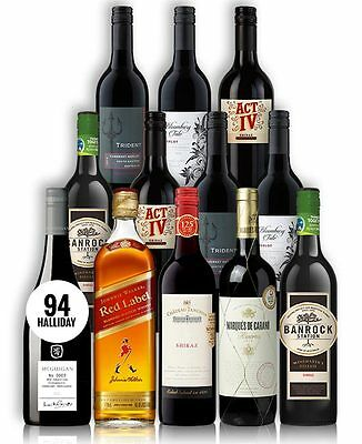 Big Red Wine & Scotch Mix + Premium Mcguigan (12 Bottles)