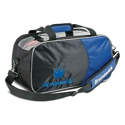 Brunswick Crown Black/Royal 2 Ball Tote Bowling Bag