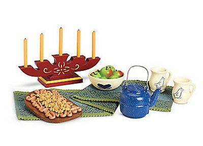 AMERICAN GIRL KIRSTEN HOLIDAY TREATS BNIB BAKING NRFB Retired Kettle Candles Cup