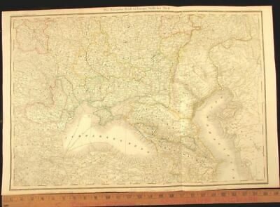 Black Sea Russia Caspian Caucasus Walachia 1856 Leipzig rare antique German map