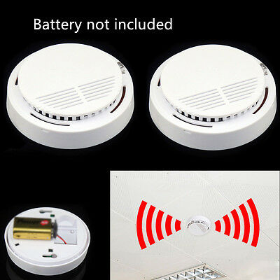 Cheap Durable 2pcs Smoke Detectors Fire Alarm Ionisation For Home Safety Warning