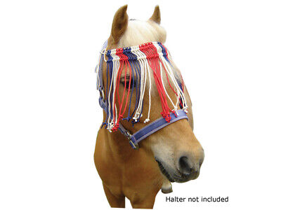 Miniature Deluxe mini pony Cotton Flyveil Tri coloured fly+veil Fly+mask