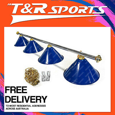 Blue Metal Pool Billiard Snooker Table Light Classic Lamp Free Delivery