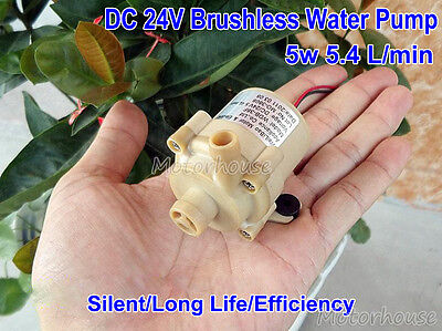 DC 24v 5W Brushless Water Pump Submersible Centrifugal Pump Silent Food Grade
