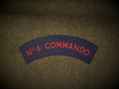 No4 Army  Commando reproduction printed badges WWII WW2