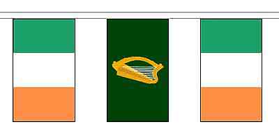 Leinster & Ireland Polyester Flag Bunting - 5m with 14 Flags