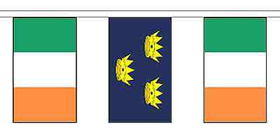 Munster & Ireland Polyester Flag Bunting - 5m with 14 Flags