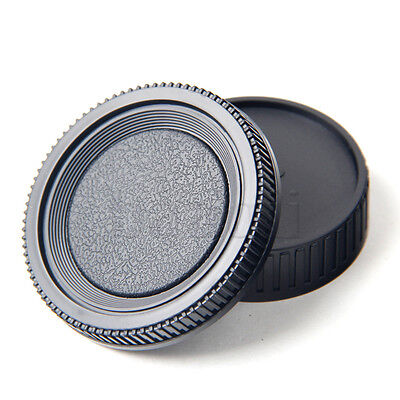 Black Rear Lens Cap Cover Camera Body Cover for KONICA MINOLTA MD MC MA