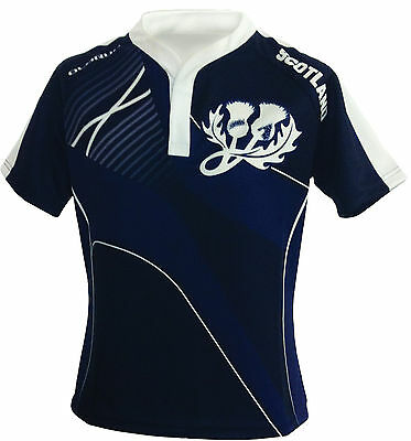Olorun Scotland Home Nations Sublimated Supporters Rugby Shirt S-4XL
