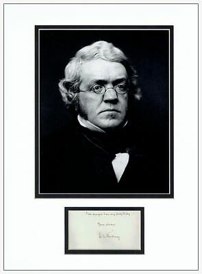 William Makepeace Thackeray Autograph Signed Display  AFTAL  UACC RD