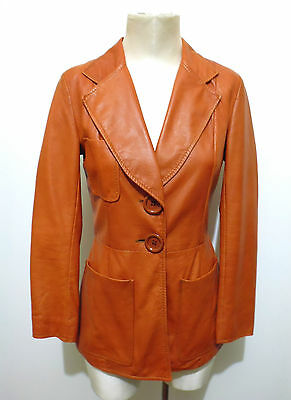 CULT VINTAGE '70 Giacca Donna Pelle Woman Leather Jacket Sz.S - 40