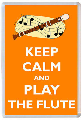 KEEP CALM AND PLAY THE TRUMPET UNION JACK KEYRING AND FRIDGE MAGNET GIFT SET
