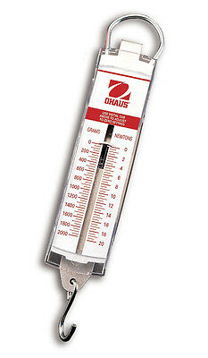 500 G x 20 G (18 OZ x 1/2 OZ) Ohaus 8002-MA Pull Type Spring Scale NEW !!