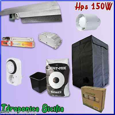 Kit coltivazione Indoor 150w + Grow Box + Fertilizzanti - BASIC