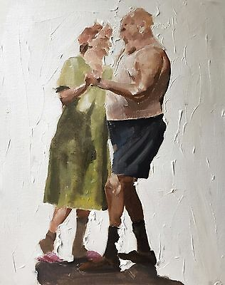 Couple Dancing Art Print 8 x 10 inches from Oil Painting by JCoates - Signed