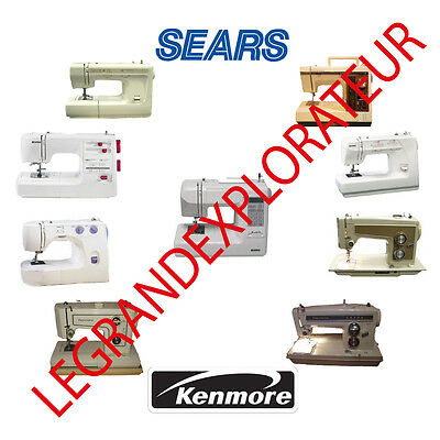 Ultimate Sears Kenmore Sewing Machine Instruction Service Repair manuals  manual