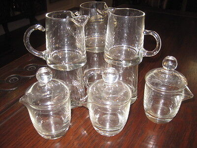 Lot of Little Glass Creamers or Pitchers