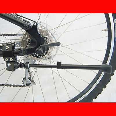 Alu Aluminium Bicycle Bike Cycle Adjustable Alloy Side Kick Stand Rubber Foot UK