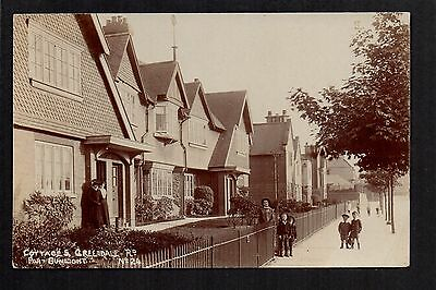 Port Sunlight - Cottages, Greendale Road - real photographic postcard