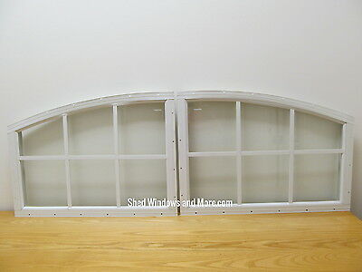 Set of Arched Shed Transom Windows White Shed Playhouse Garage Storage Building