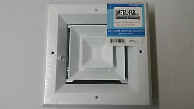 """NEW 6"""" x 6"""" 4-WAY Supply Grille, Duct Cover & Diffuser, Sidewall/Ceiling - White"""