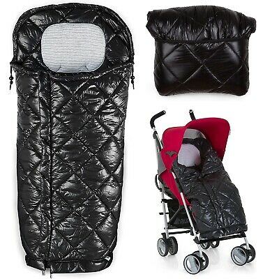 Hauck Warn Me Footmuff Pushchair Stroller Quilted Winter Cosytoe Universal Black