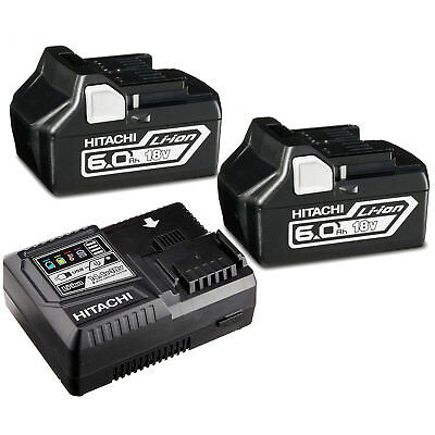 Hitachi 18V Cordless 6.0AH Lithium-ion battery charger Kit