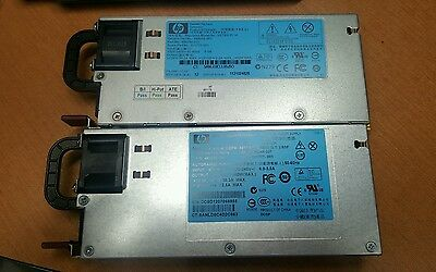 Matched Pair (2) HP 499250-001 460W HOT PLUG POWER SUPPLY FOR ML180 G6 ML110 G7