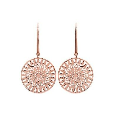 Boucles d'oreille ronde plaqué or rose, Collection Inca