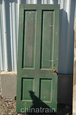 Antique Vintage Solid Wood 4 Panel House Door 78.5 x 29 5/16""