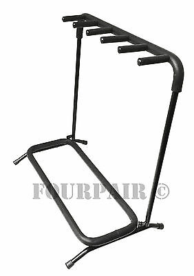 5 Multi Guitar Padded Stand Holder Stage Folding Rack Bass Acoustic Electric New