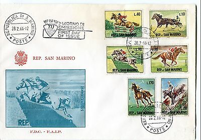 1966 FDC San Marino Ippica First Day Cover