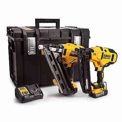 DeWalt DCN660 + DCN692 Framing + Finishing Nailer Kit 1st + 2nd Fix Nail Gun