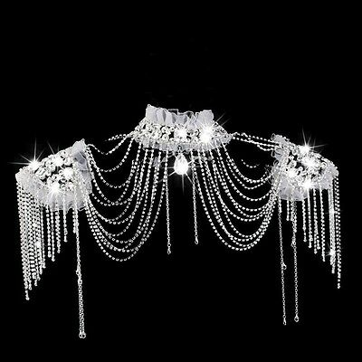 Bridal Lacy Crystal Shoulder Piece and Choker
