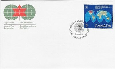 Canada Post OFDC 1983 $2.00 Commonwealth Day FDC, Sc # 977 - CV $6.60