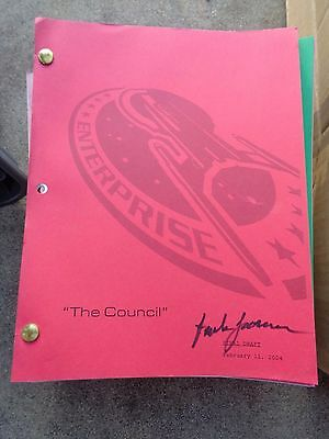 Star Trek Enterprise Stage Used Crew Script The Council