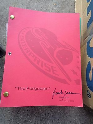 Star Trek Enterprise Stage Used Crew Script The Forgotten