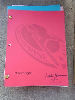 Star Trek Enterprise Stage Used Crew Script Damage