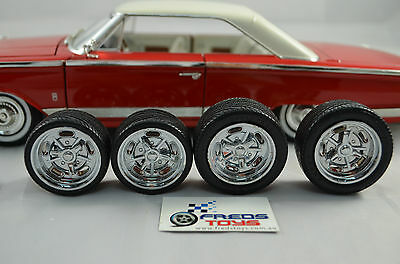 1:18 scale Rims and Tyre set (4pcs) suitable for 1:18 model car MW58