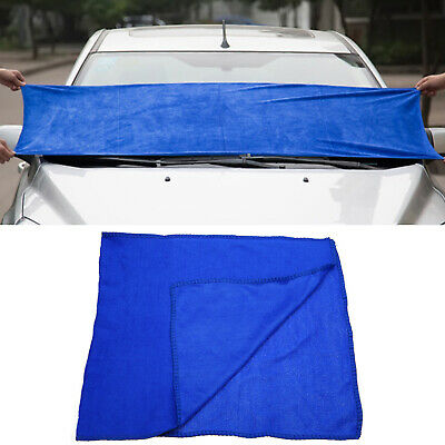 Soft Blue Absorbent Microfiber Cleaning Towel Car Wash Clean Cloths 160*60cm
