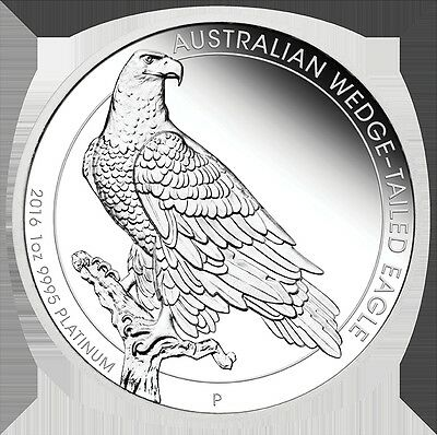2016 $100 Australian Wedge-Tailed Eagle - 1 oz Platinum Proof Coin- Perth Mint