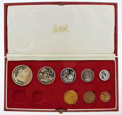 """South Africa 1976 Proof Coin Set """"no gold coin"""""""