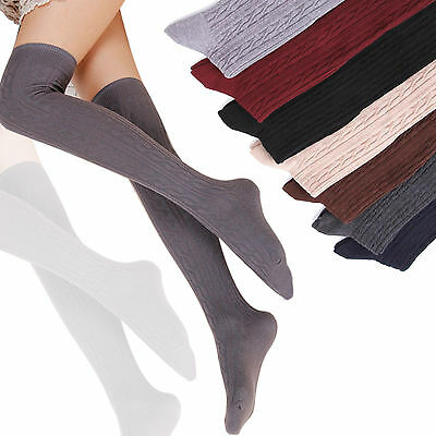 Winter Women Warm Cotton Over Knee Thigh High Stockings Socks Pantyhose Tights