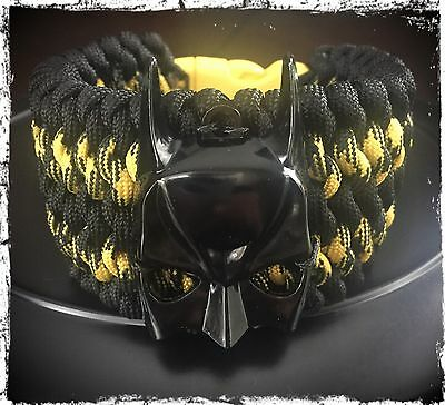 Batman Wide Paracord Bracelet.
