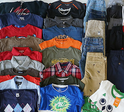 Boys Size 7 Fall Clothes Lot of 31 Items L2-17