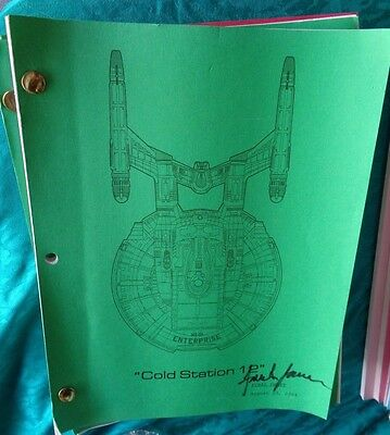 Star Trek Enterprise Stage Used Crew Script Cold Station 12