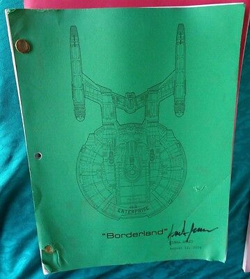 Star Trek Enterprise Stage Used Crew Script Borderland